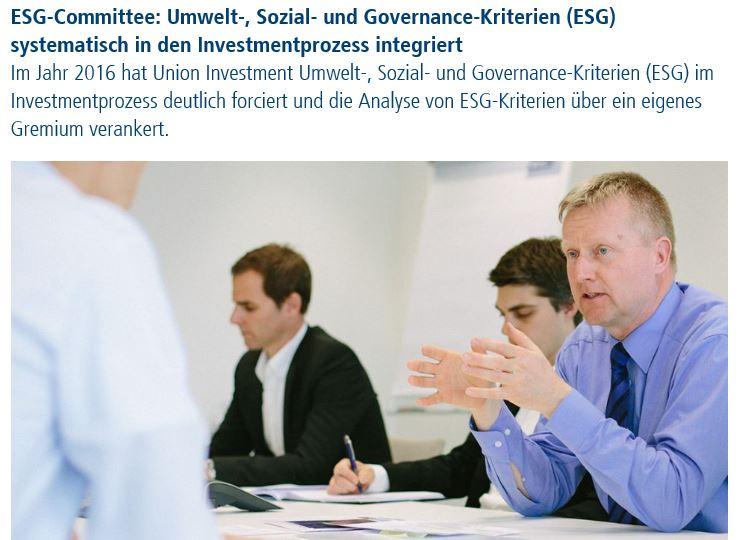 ESG-Commitee Union Investment
